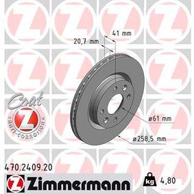Bremsscheibe 470.2409.20 TWINGO 2 (CN0) 1.5 dCi Bj 2016