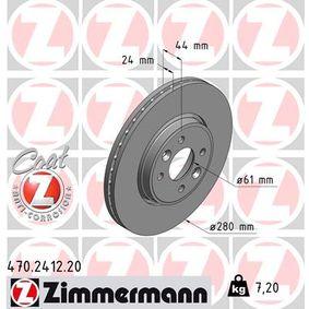 Bremsscheibe 470.2412.20 Scénic 1 (JA0/1_, FA0_) 1.6 BiFuel (JA04) Bj 1999