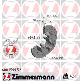 Bremsscheibe Bremsscheibendicke: 10mm, Felge: 4-loch, Ø: 226mm mit OEM-Nummer 6N0.615.601