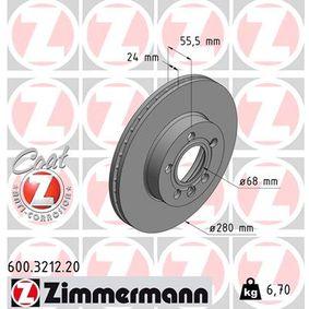 Bremsscheibe Ø: 280mm mit OEM-Nummer 701 615 301 F