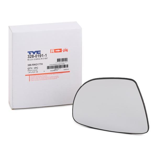 Außenspiegelglas 328-0191-1 TYC 328-0191-1 in Original Qualität