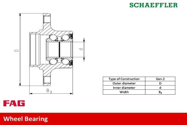 Wheel Bearing FAG 713 6267 90 rating