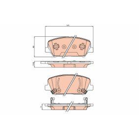 Bremsbelagsatz, Scheibenbremse Höhe: 60,0mm, Dicke/Stärke: 17,8mm mit OEM-Nummer 581012MA00