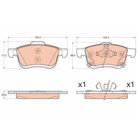 Bremsbelagsatz, Scheibenbremse Höhe 1: 71,5mm, Höhe 2: 69,0mm, Dicke/Stärke: 20,0mm mit OEM-Nummer 7 736 691 5