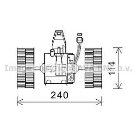 Elektromotor, Innenraumgebläse mit OEM-Nummer 64 11 6 933 910