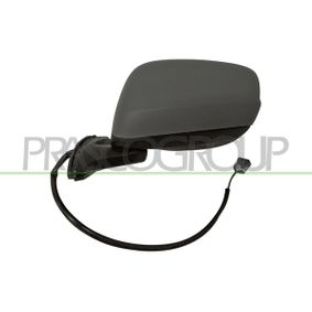 PRASCO Side view mirror Left, Electric, Electronically foldable, Primed