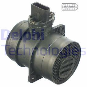 DELPHI Luftmassenmesser AF10251-12B1 für AUDI A4 (8E2, B6) 1.9 TDI ab Baujahr 11.2000, 130 PS