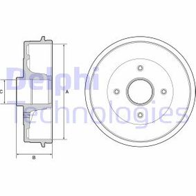 Bremstrommel BF538 TWINGO 2 (CN0) 1.2 16V Bj 2014