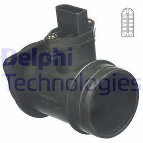 DELPHI Luftmassenmesser AF10267-12B1 für AUDI A4 (8D2, B5) 1.9 TDI ab Baujahr 03.2000, 116 PS