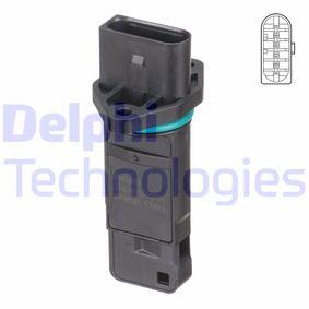 DELPHI Luftmassenmesser AF10157-12B1 für AUDI A4 (8D2, B5) 1.9 TDI ab Baujahr 03.2000, 116 PS