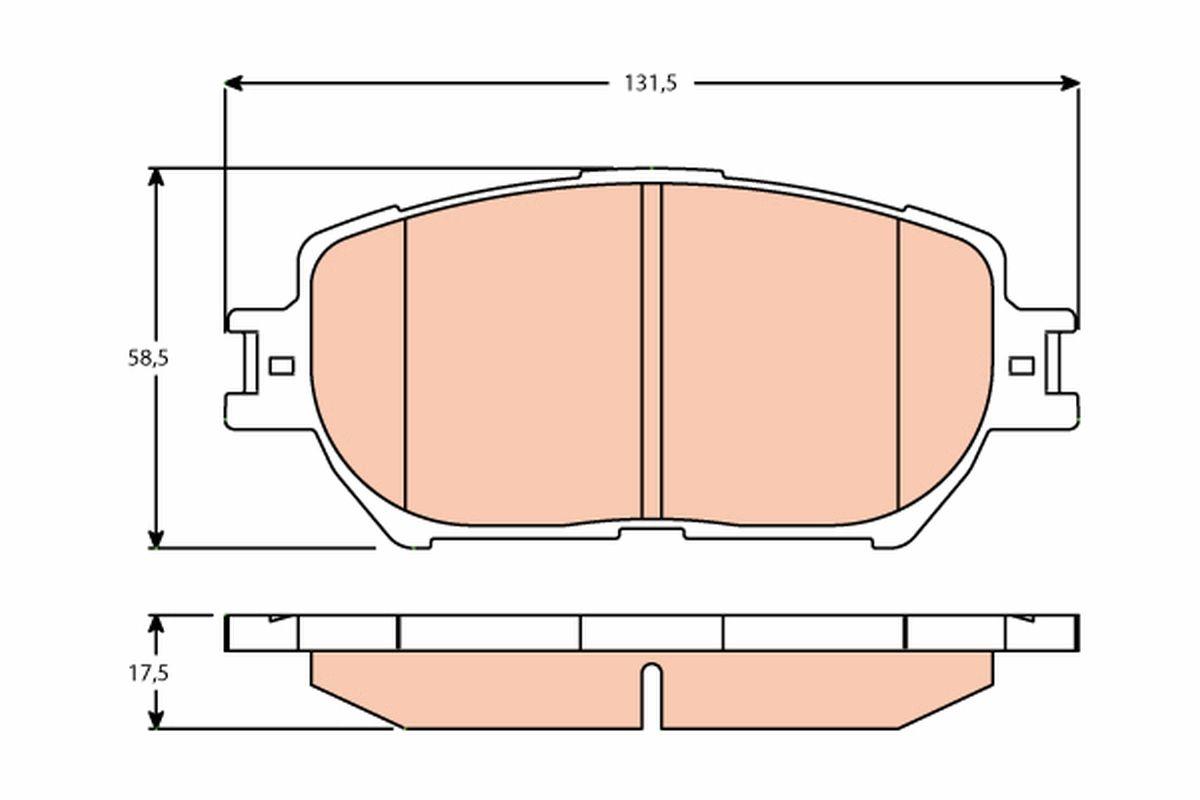 Bremsbeläge GDB3628 TRW 23806 in Original Qualität