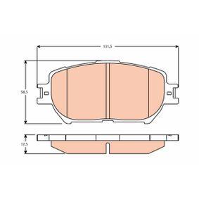 Bremsbelagsatz, Scheibenbremse Höhe: 58,5mm, Dicke/Stärke: 17,5mm mit OEM-Nummer 04465 33320