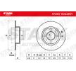 Disco freno (SKBD-0022801) per per Indicatore direzione laterale FIAT SEICENTO (187) Elettrica dal Anno 03.2000 30 CV di STARK