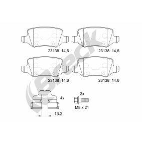 Bremsbelagsatz, Scheibenbremse Höhe: 41,5mm, Dicke/Stärke: 14,3mm mit OEM-Nummer 4144200120
