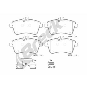 Brake Pad Set, disc brake Height: 70,00mm, Thickness: 19,50mm with OEM Number A169 420 01 20