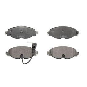 Bremsbelagsatz, Scheibenbremse Breite: 160,2mm, Höhe: 64,5mm, Dicke/Stärke: 20,4mm mit OEM-Nummer 5Q0-698-151