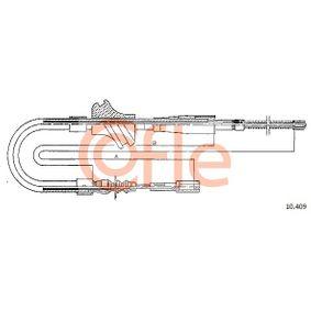 COFLE Seilzug, Feststellbremse 10.409 für AUDI 100 (44, 44Q, C3) 1.8 ab Baujahr 02.1986, 88 PS