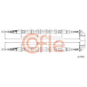 Seilzug, Feststellbremse Länge: 2x1455/1226mm mit OEM-Nummer 5 225 24