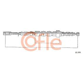 COFLE Seilzug, Feststellbremse 10.399 für AUDI 100 (44, 44Q, C3) 1.8 ab Baujahr 02.1986, 88 PS