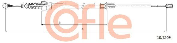 Handbremsseil 10.7509 COFLE 92107509 in Original Qualität