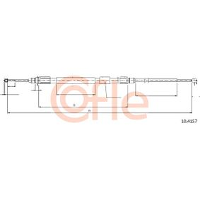 COFLE Seilzug, Feststellbremse 10.4157 für BMW 5 (E60) 530 xi ab Baujahr 01.2007, 272 PS