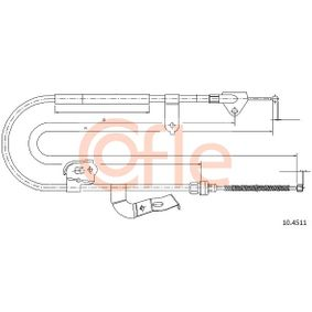Cable, parking brake Article № 10.4511 £ 140,00