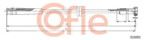 COFLE  S1S001 Árbol flexible del velocímetro