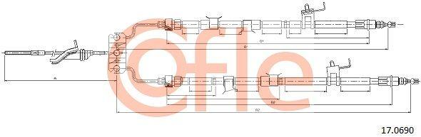 Brake Cable 17.0690 COFLE 92170690 original quality