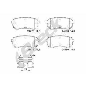 Brake Pad Set, disc brake 24276 00 704 10 Picanto (SA) 1.1 MY 2019