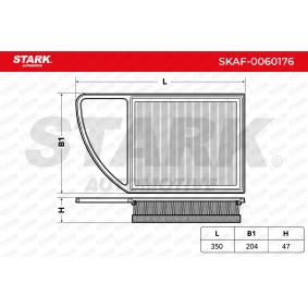 Filtre à air PEUGEOT 207 (WA_, WC_) 1.6 HDi 110 de Année 08.2009 112 CH: Filtre à air (SKAF-0060176) pour des STARK