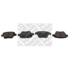 Bremsbelagsatz, Scheibenbremse Breite: 109,3mm, Höhe: 53,3mm, Dicke/Stärke: 16,5mm mit OEM-Nummer 8P0 098 601 P