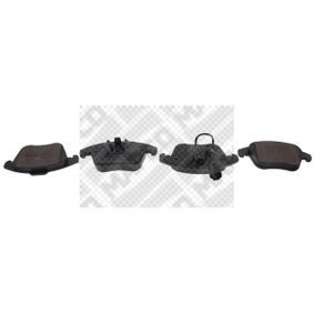 MAPCO  6960 Bremsbelagsatz, Scheibenbremse Breite: 155mm, Höhe 1: 67mm, Höhe 2: 80mm, Dicke/Stärke: 20mm