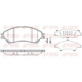 Bremsbelagsatz, Scheibenbremse Höhe: 55,1mm, Dicke/Stärke: 16mm mit OEM-Nummer 55810 61M 00