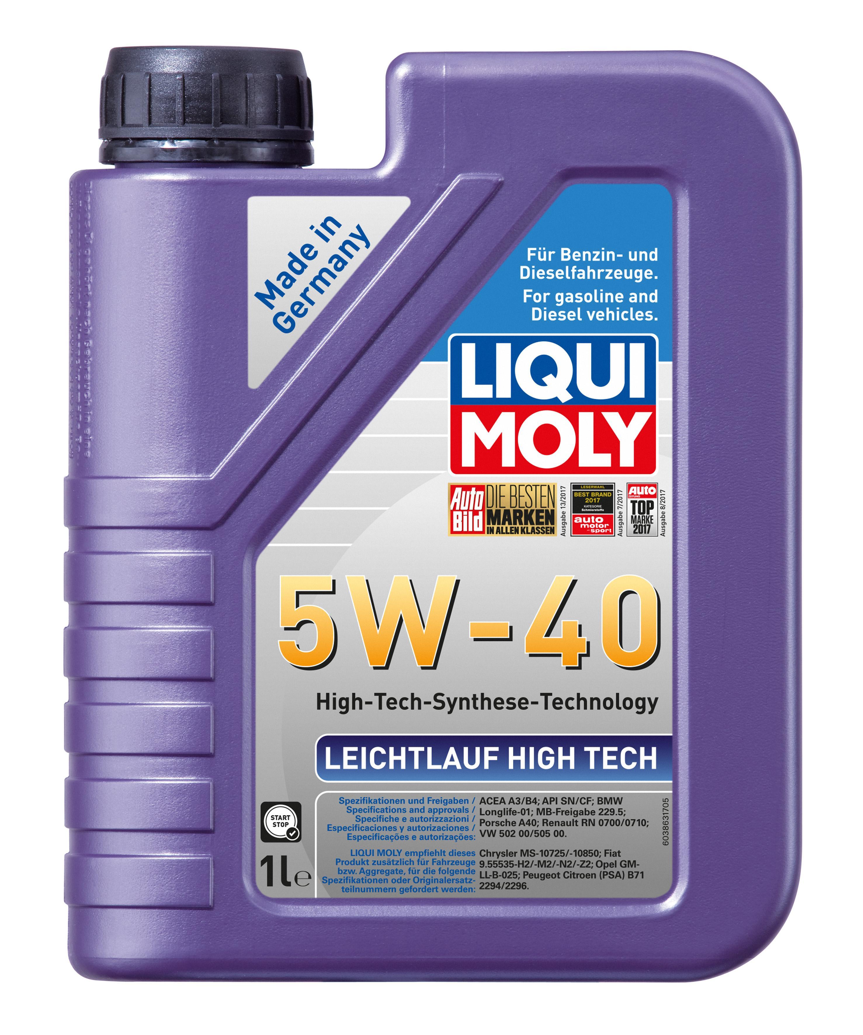 Motor Oil 2327 LIQUI MOLY LeichtlaufHighTech5W40 original quality