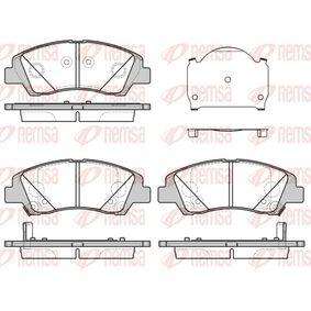 Bremsbelagsatz, Scheibenbremse Höhe: 50,6mm, Dicke/Stärke: 16,6mm mit OEM-Nummer 58101B-9A70