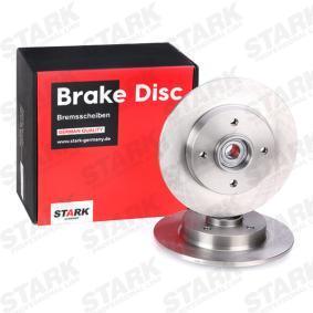 Disco de travão Espessura do disco de travão: 9,0mm, Ø: 249,0mm com códigos OEM 4249-34