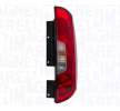 MAGNETI MARELLI Tail lights FIAT Right, with lamp base, W16W, P21/5W, P21W, with bulbs