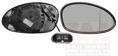 VAN WEZEL  0627866U Spiegelglas, Außenspiegel