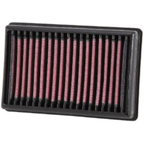 K&N Filters  BM-1113 Luftfilter L: 171mm, B: 114mm, H: 38mm