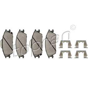 Bremsbelagsatz, Scheibenbremse Dicke/Stärke 1: 15,4mm mit OEM-Nummer 581011CA10