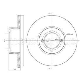Bremsscheibe Bremsscheibendicke: 12,5mm, Lochanzahl: 4, Ø: 245,5mm mit OEM-Nummer 569014
