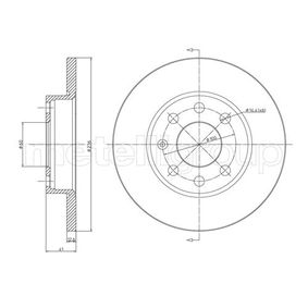 Спирачен диск 23-0080 Corsa B Хечбек (S93) 1.7D (F08, F68, M68) Г.П. 1998