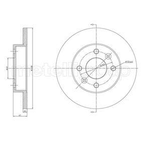 Bremsscheibe Bremsscheibendicke: 12,0mm, Lochanzahl: 4, Ø: 238,0mm mit OEM-Nummer 60.01.549.211