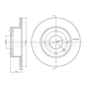 Bremsscheibe Bremsscheibendicke: 12,7mm, Lochanzahl: 4, Ø: 240,0mm mit OEM-Nummer 6100043