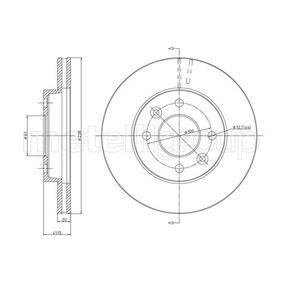 Bremsscheibe Bremsscheibendicke: 20,0mm, Lochanzahl: 4, Ø: 238,0mm mit OEM-Nummer 77 01 204 286