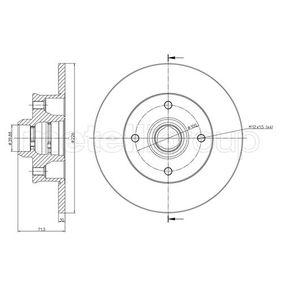 Bremsscheibe Bremsscheibendicke: 10,0mm, Lochanzahl: 4, Ø: 226,0mm mit OEM-Nummer 6N0615601