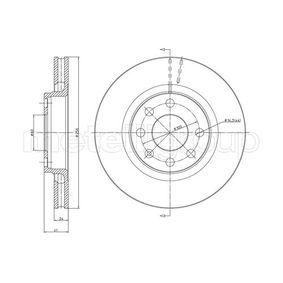 Bremsscheibe Bremsscheibendicke: 24,0mm, Lochanzahl: 4, Ø: 256,0mm mit OEM-Nummer 90 250 546