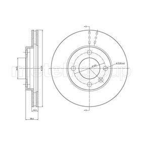 Bremsscheibe Bremsscheibendicke: 20,0mm, Lochanzahl: 4, Ø: 239,0mm mit OEM-Nummer 6N0 615 301 G