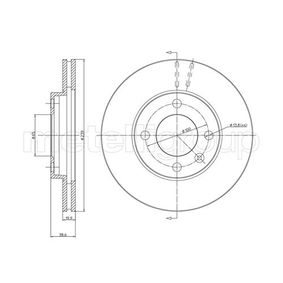 Bremsscheibe Bremsscheibendicke: 20,0mm, Lochanzahl: 4, Ø: 239,0mm mit OEM-Nummer 841615301