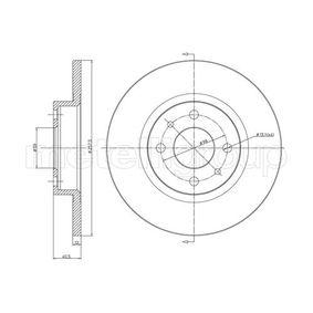 METELLI спирачен диск (23-0179) за с ОЕМ-номер 60808872